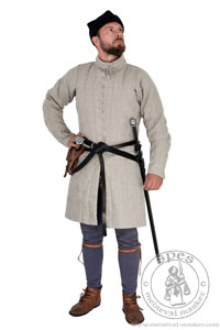 In stock - Medieval Market, Long pourpoint in natural color