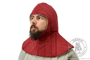 In stock - Medieval Market, A quilted hood
